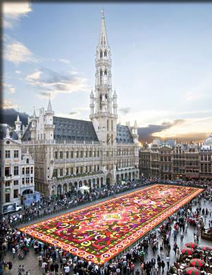 Brussels, Belgium international flower holidays.
