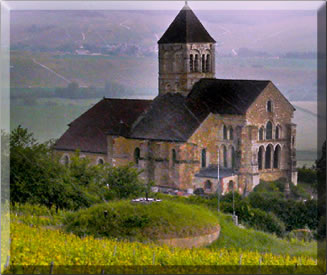 Ancient church above Mancy in the Champagne region of France.
