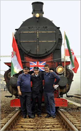 Lovers of luxury train travel board a new Golden Eagle Danube Express journey, Tehran and Budapest.