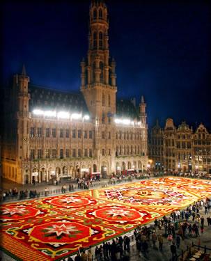 Brussels, Belgium international flower holidays, Brussels in Bloom begonia festival.