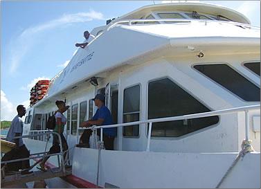 Grenada, Carriacou, Petite Martinique Osprey Lines ferry, Grenada islands holidays.