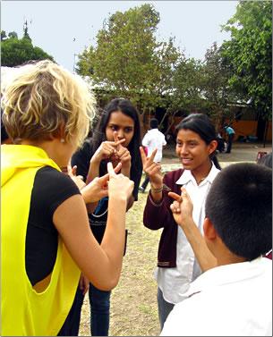 senior-friendly volunteer holidays worldwide: school for deaf children in Guatemala.
