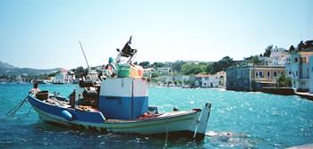 Greek Island of Leros fishing boat