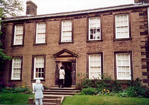Haworth, the Bronte parsonage, England visited on Elderhostel study tour.