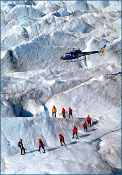 Active adventure glacier trekking, Juneau Alaska.