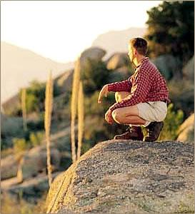 Hiking activity at Miraval health resort, Arizona.