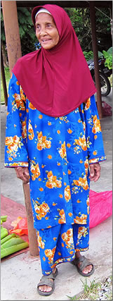 Malaysia homestay host mother.