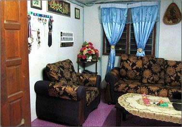 Malaysia homestay living room.