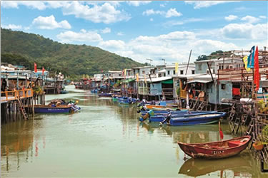 """Hong Kong tours to historic stilted village, """"Venice of the East""""."""