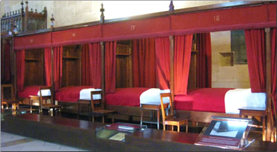 Hotel Dieu de Beaune medieval hospital is now a museum in Beaune, France.