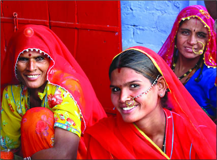 Women travel groups in India.