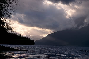 Stormy Knight Inlet on wilderness vacation in British Columbia.