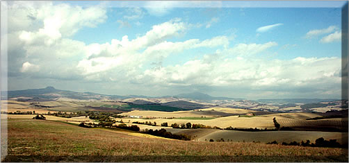 Val d'Orcia, Tuscany, on a culinary walking holiday in Italy.