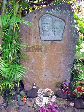 Jacques Brel's grave, Marquesas Islands, French Polynesia.