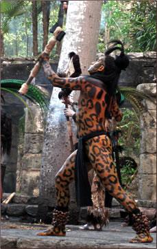 Xcaret, Mexico cultural heritage, Mayan Jaguar Dance.