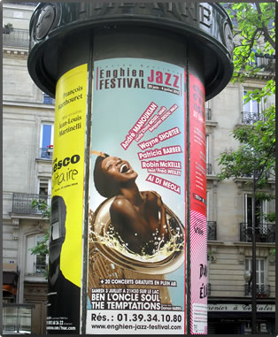 Paris Jazz Festival Poster, Paris France travel articles.