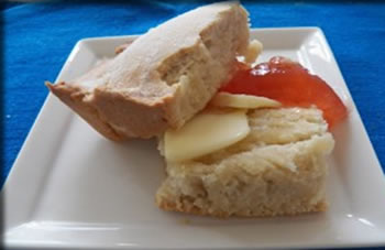 Johnny Cake, part of the traditional cuisine of The Bahamas.