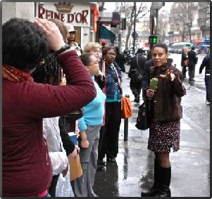 Julia Browne, owner and guide of Walking the Spirit Tours, Black Paris tours.