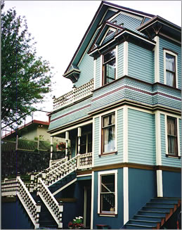 Beautifully restored historic homes are among Juneau, Alaska's attractions.