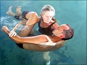 Watsu water massage is part of a Hawaiian Islands health and wellness holiday.
