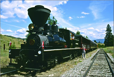 Kettle Valley Steam Train: Okanagan Valley tourism outdoors, British Columbia active outdoors travel.