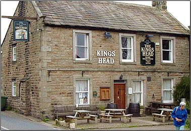 Kings Head Pub on England's Coast to Coast Walk.