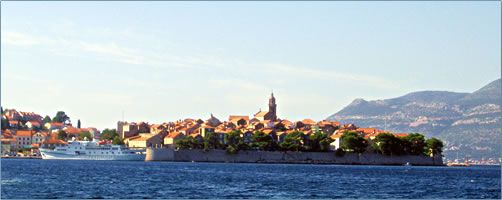 Cruising Islands of the Dalmatian Coast by Alison Gardner, Korcula tourism.