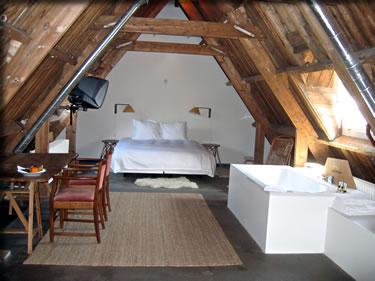 Five-star bedroom at Amsterdam's design Lloyd Hotel.