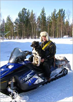 Lapland reindeer herder in northern Finland.