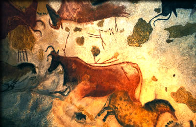 Lascaux cave in the Dordogne, Ice Age cave art in Europe.