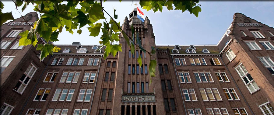 Try something different by staying at Amsterdam's memorable historic Lloyd Hotel & Cultural Embassy.