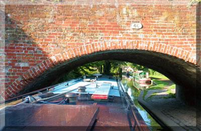 Canal bridge on British waterways.