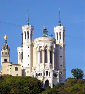 Church in Lyon, France seen on Uniworld river cruise.