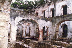 Ruins of manor house in Barbados