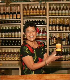 Maui's Winery tasting room, a part of Maui's Upcountry Agri-Tourism.