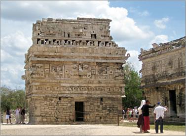 Small temple, Mayan civilization Chichen Itza in Mexico.