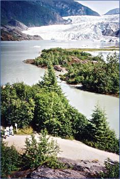 Juneau Alaska Mendenhall Glacier.