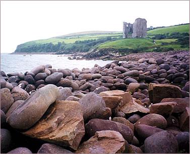 Minard Castle, The Creaky Traveler in Ireland, senior travel.