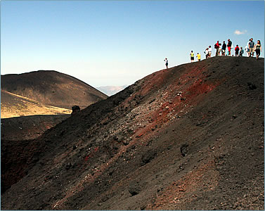 Italian language learning program for 50 Plus learners includes excursion to nearby Mount Etna in Sicily.