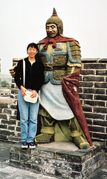 Chinese national guide on Great Wall of China.