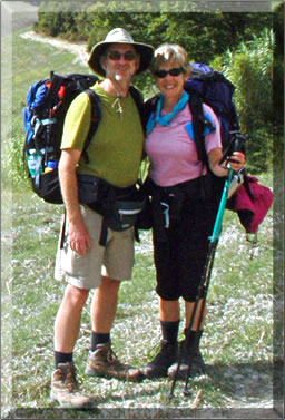 Neville Tencer and Julie Burk on walking holiday in Italy.