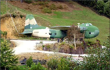 Sleeping in strange places: a vintage military freight plane is converted to unconventional accommodation in New Zealand.