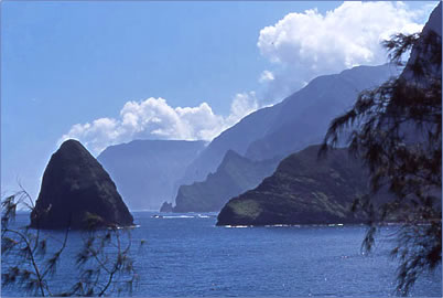 Northshore Kalaupapa, the view from Kalawao.