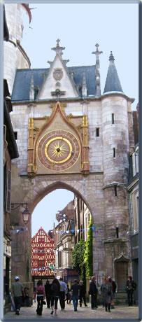 Noyers-sur-Serein heritage town in Burgundy, France.