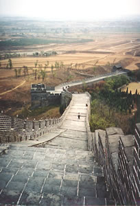 Number One Pass on the Great Wall of China senior hiking vacation.