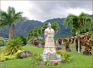 Chinese cemetery on Oahu.