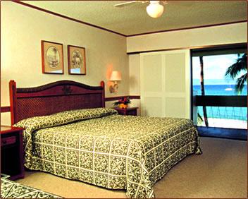 Hotel room at Kaanapali Beach Hotel on Maui, Hawaii.