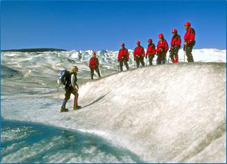 Glacier trekking, Mendenhall Glacier, Alaska.