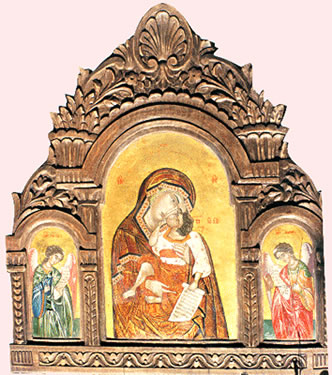 Icon painting of Our Lady of the Angels by Vasiliki Papantoniou