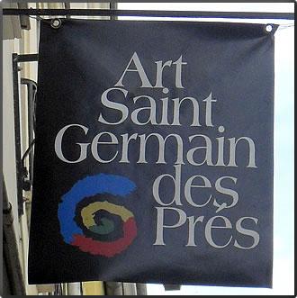 Saint Germain des Pres banner, Cultural Tours Paris France.
